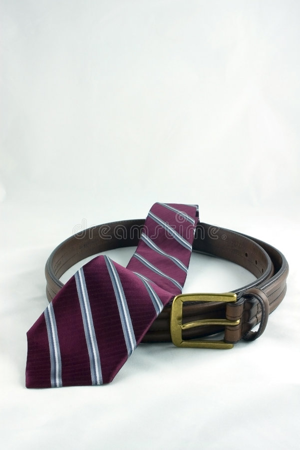 Tie and belt royalty free stock photography