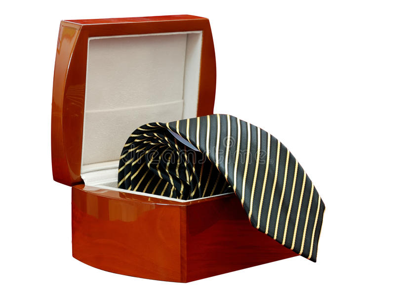 Download Tie In A Box Isolated (with Clipping Path) Stock Image - Image: 10822875