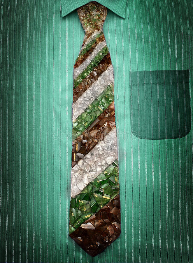 Download Tie from broken glass stock image. Image of green, professional - 15471493