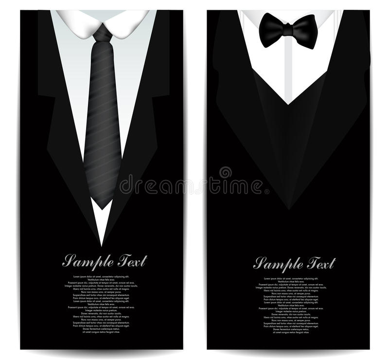 Tie Business cards royalty free illustration