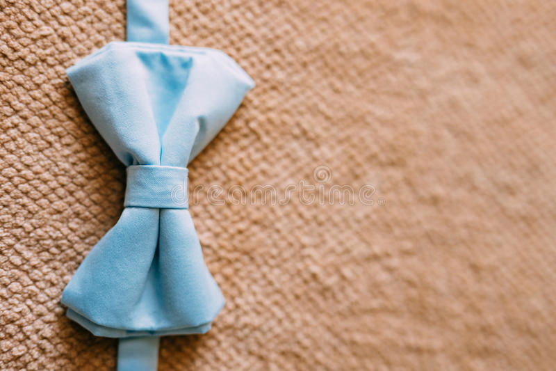 Tie Butterfly on a wooden background stock photo