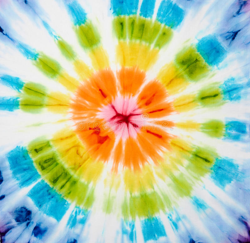 Tie dye. Abstract tie dyed fabric background royalty free stock images
