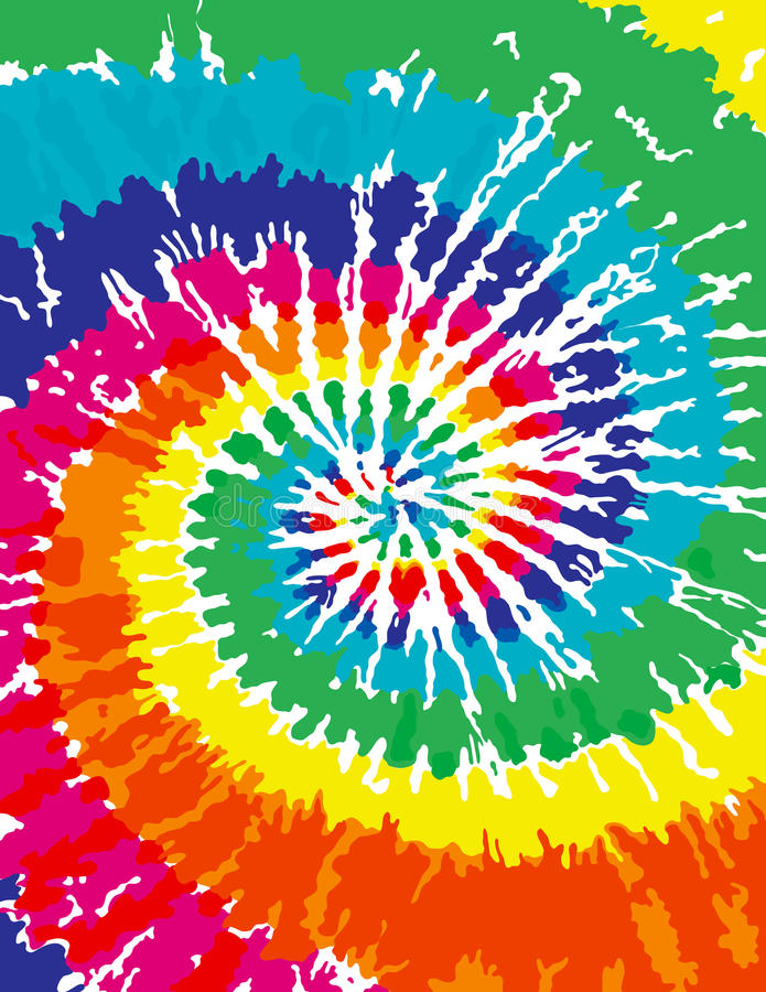 Tie Dye Background stock illustration