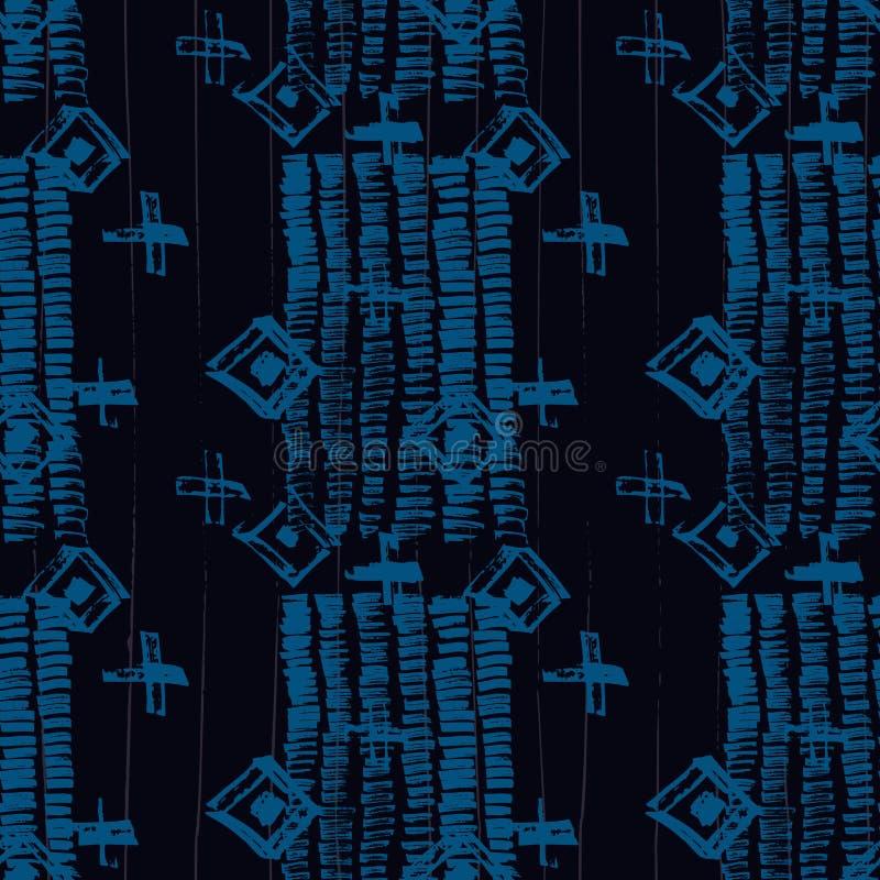 Bohemian Batik Water Color Texture Background Stock