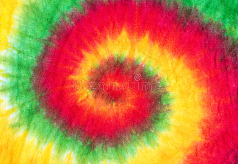 Tie dye pattern background. Close of spiral tie dye pattern abstract background stock photography
