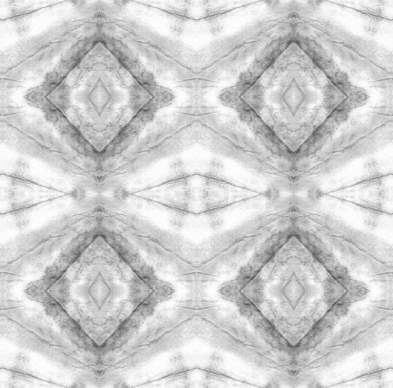Tie Dye Pattern. Black and White Shibori seamless print. Watercolor hand drawn batik. Summer ink japan illustration. Handmade watercolour shirt  Aztec vector illustration