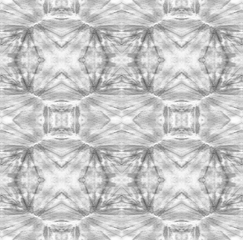 Tie Dye Pattern. Black and White Shibori seamless print. Watercolor hand drawn batik. Summer ink japan illustration. Handmade watercolour shirt tie dye pattern stock illustration