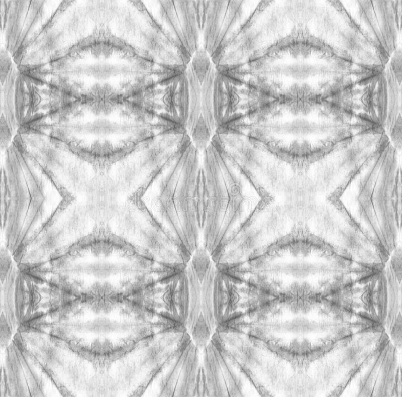Tie Dye Pattern. Black and White Tie Dye Pattern. Shibori seamless print. Watercolor hand drawn batik. Summer ink japan illustration. Handmade watercolour shirt vector illustration
