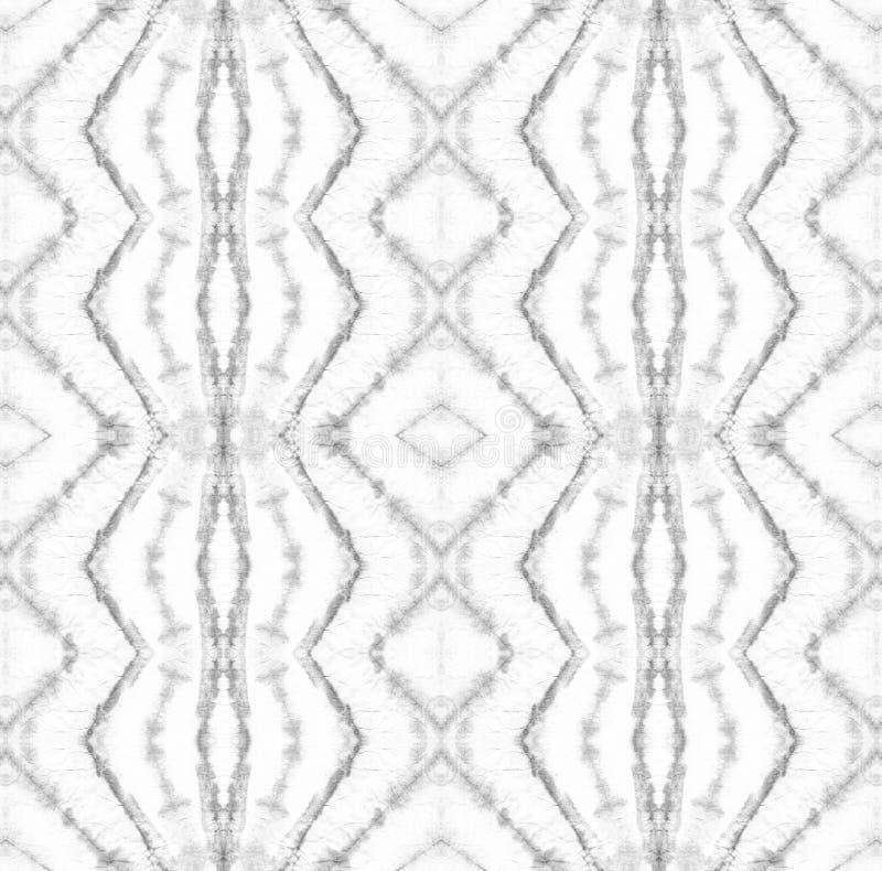 Tie Dye Pattern. Black and White Watercolor hand drawn batik. Summer ink japan illustration. Handmade watercolour shirt tie dye pattern. Aztec kaleidoscope vector illustration