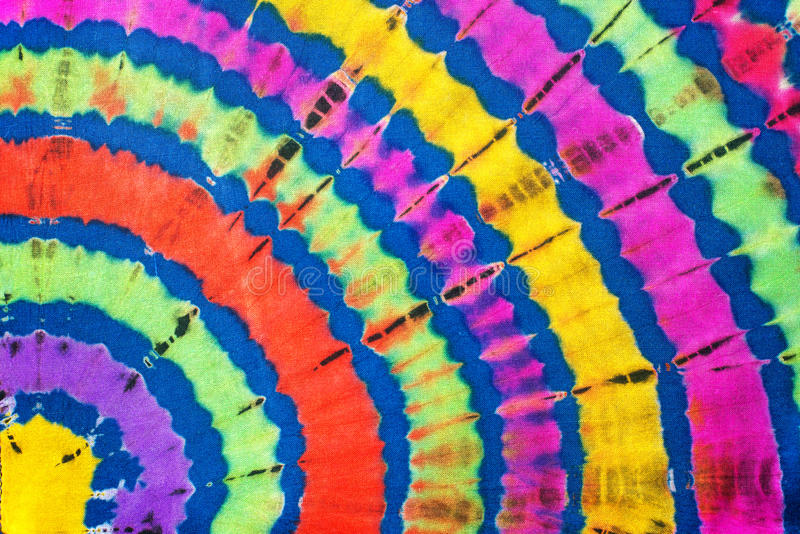 Tie-Dye Pattern. Colorful pattern of tie-dye clothing royalty free stock photography