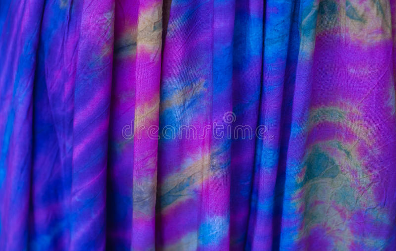 Tie Dye Pattern. Colorful tie dye pattern on cotton fabric stock images
