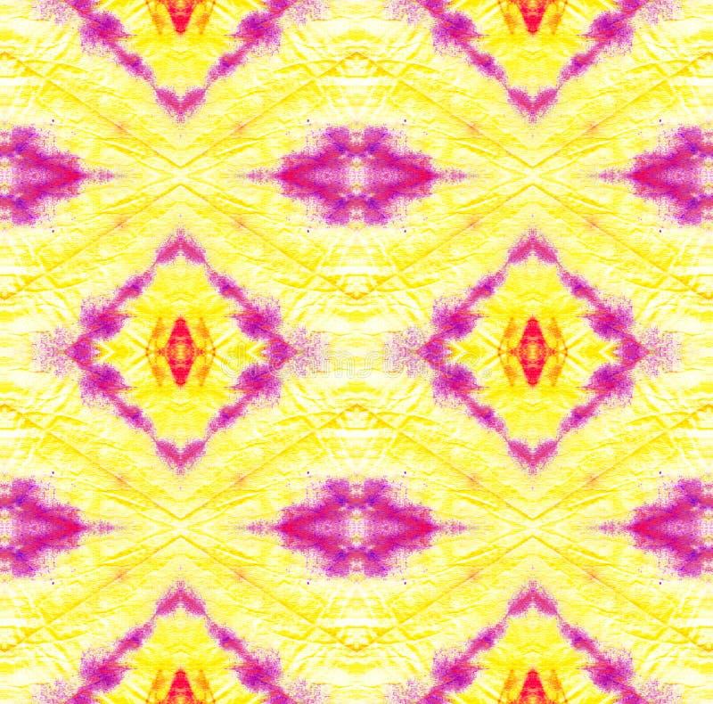 Tie Dye Pattern. Purple and Violet Watercolor hand drawn batik. Summer ink japan illustration. Handmade watercolour shirt tie dye pattern. Aztec kaleidoscope vector illustration