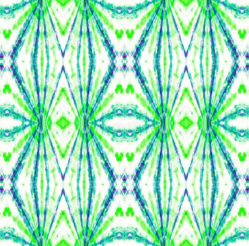 Tie Dye Pattern. Seafoam Green Shibori seamless print. Tie Dye Pattern. Watercolor hand drawn batik. Summer ink japan illustration. Handmade watercolour shirt vector illustration