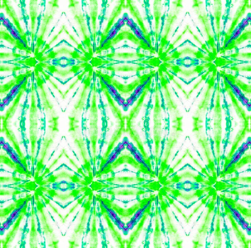 Tie Dye Pattern. Seafoam Green Tie Dye Pattern. Shibori seamless print. Watercolor hand drawn batik. Summer ink japan illustration. Handmade watercolour shirt vector illustration