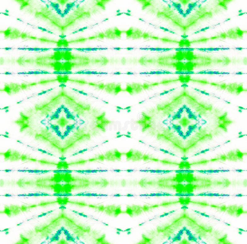 Tie Dye Pattern. Seafoam Green Shibori seamless print. Tie Dye Pattern. Watercolor hand drawn batik. Summer ink japan illustration. Handmade watercolour shirt royalty free illustration