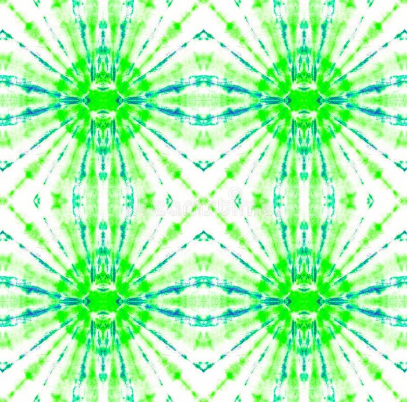 Tie Dye Pattern. Seafoam Green Watercolor hand drawn batik. Summer ink japan illustration. Handmade watercolour shirt tie dye pattern. Aztec kaleidoscope vector illustration