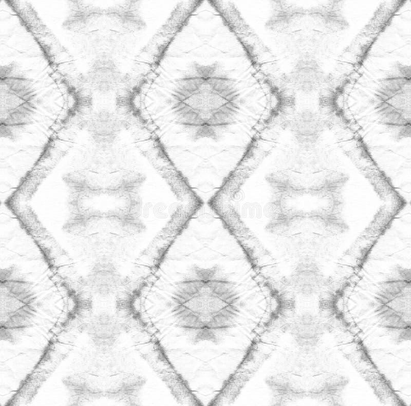 Tie Dye Pattern. Shibori seamless print. Black and White Watercolor hand drawn batik. Summer ink japan illustration. Handmade watercolour shirt  Aztec vector illustration