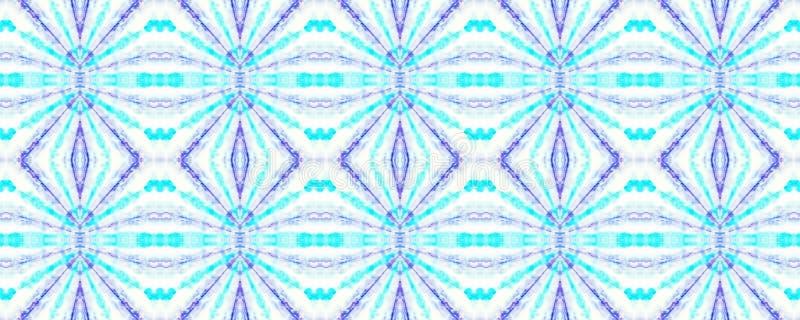 Tie Dye Pattern. Shibori seamless print. Indigo and Blue Watercolor hand drawn batik. Summer ink japan illustration. Handmade watercolour shirt  Aztec stock illustration