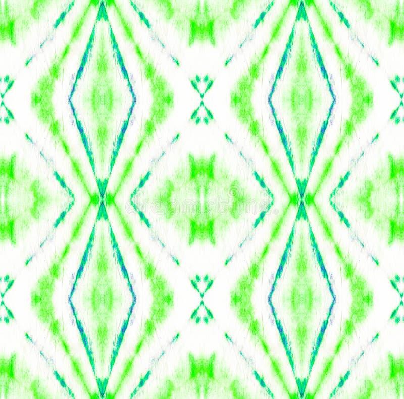 Tie Dye Pattern. Shibori seamless print. Seafoam Green Tie Dye Pattern. Watercolor hand drawn batik. Summer ink japan illustration. Handmade watercolour shirt stock images