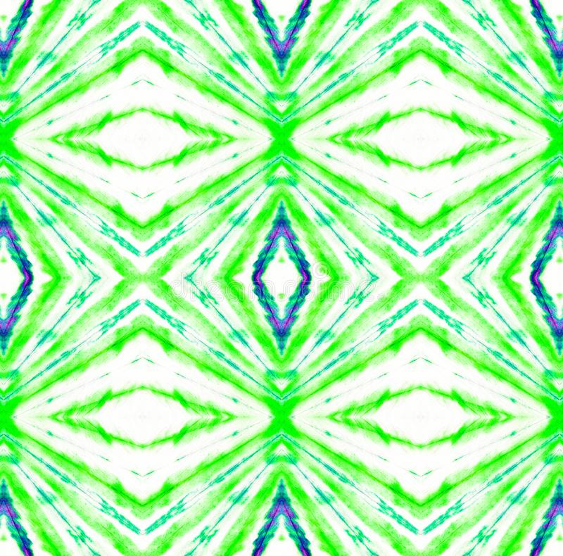 Tie Dye Pattern. Shibori seamless print. Tie Dye Pattern. Seafoam Green Watercolor hand drawn batik. Summer ink japan illustration. Handmade watercolour shirt royalty free illustration