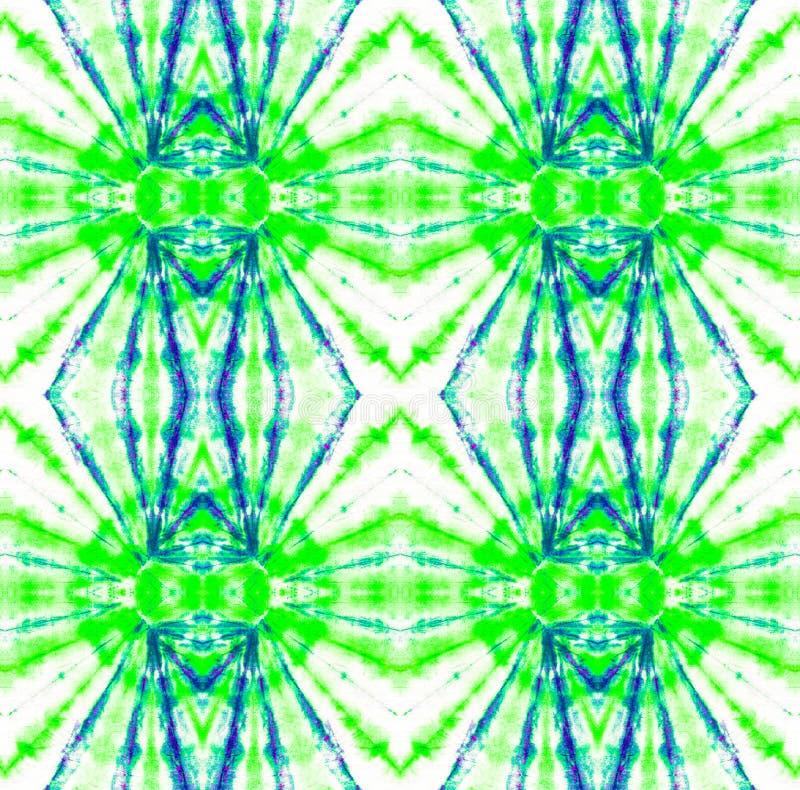 Tie Dye Pattern. Shibori seamless print. Seafoam Green Watercolor hand drawn batik. Summer ink japan illustration. Handmade watercolour shirt  Aztec stock illustration