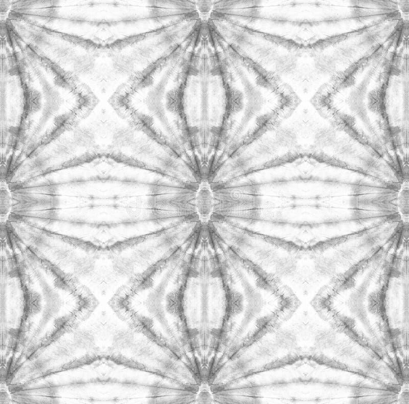 Tie Dye Pattern. Shibori seamless print. Watercolor hand drawn batik. Summer ink japan illustration. Handmade watercolour shirt  Aztec kaleidoscope texture stock illustration