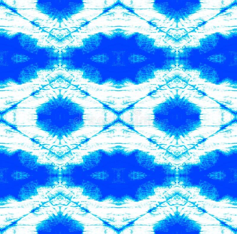 Tie Dye Pattern. Shibori seamless print. Tie Dye Pattern. Watercolor hand drawn batik. Summer ink japan illustration. Handmade watercolour shirt tie dye pattern vector illustration
