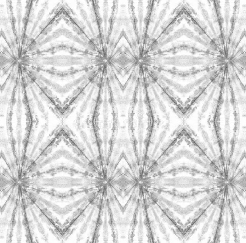 Tie Dye Pattern. Shibori seamless print. Watercolor hand drawn batik. Summer ink japan illustration. Handmade watercolour shirt tie dye pattern. Aztec royalty free illustration