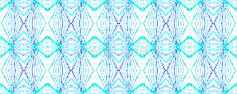 Tie Dye Pattern. Indigo and Blue Shibori seamless print. Watercolor hand drawn batik. Summer ink japan illustration. Handmade watercolour shirt  Aztec stock illustration