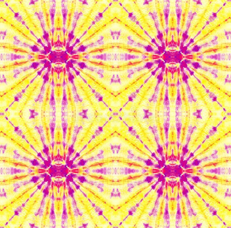 Tie Dye Pattern. Purple and Violet Shibori seamless print. Watercolor hand drawn batik. Summer ink japan illustration. Handmade watercolour shirt  Aztec royalty free illustration