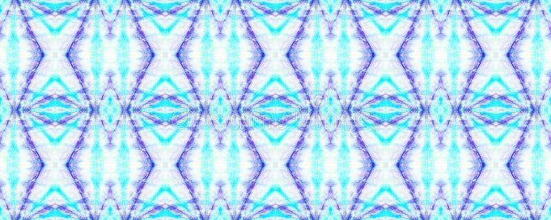 Tie Dye Pattern. Watercolor hand drawn batik. Summer ink japan illustration. Handmade watercolour shirt tie dye pattern. Aztec kaleidoscope texture. Indigo and royalty free stock image