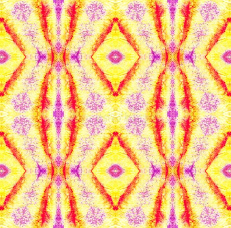 Tie Dye Pattern. Watercolor hand drawn batik. Summer ink japan illustration. Handmade watercolour shirt  Aztec kaleidoscope texture. Shibori seamless print vector illustration