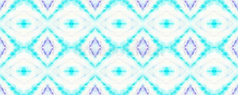 Tie Dye Pattern. Watercolor hand drawn batik. Summer ink japan illustration. Handmade watercolour shirt  Aztec kaleidoscope texture. Indigo and Blue Shibori royalty free illustration