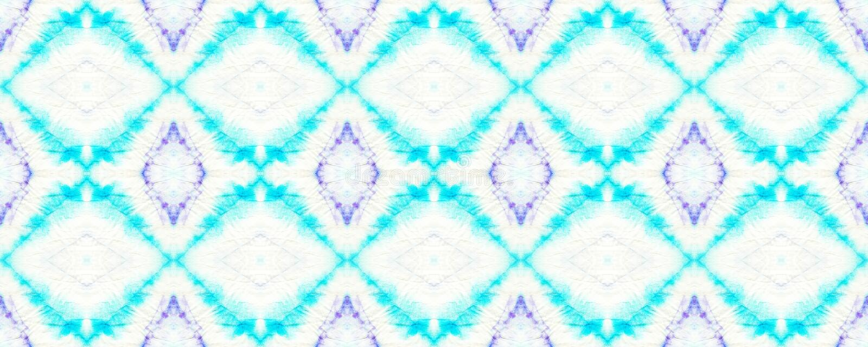 Tie Dye Pattern. Watercolor hand drawn batik. Summer ink japan illustration. Handmade watercolour shirt  Aztec kaleidoscope texture. Shibori seamless print royalty free illustration