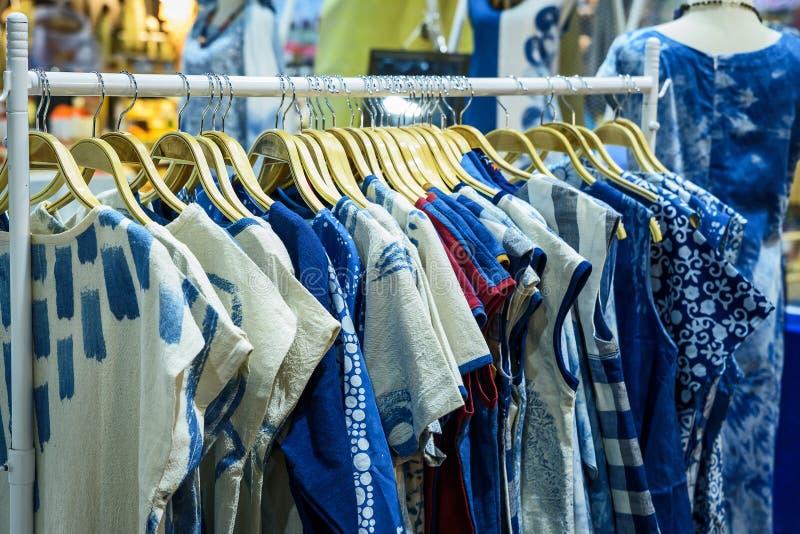 Tie-dye pattern of women shirts royalty free stock image