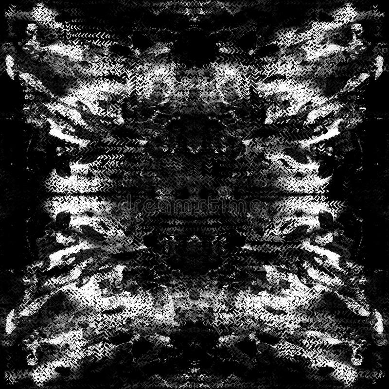 Tie dye seamless pattern. Hand drawn shibori print. Ink textured japanese background. Modern batik wallpaper tile. Watercolor endless backdrop. Colored japan stock photography