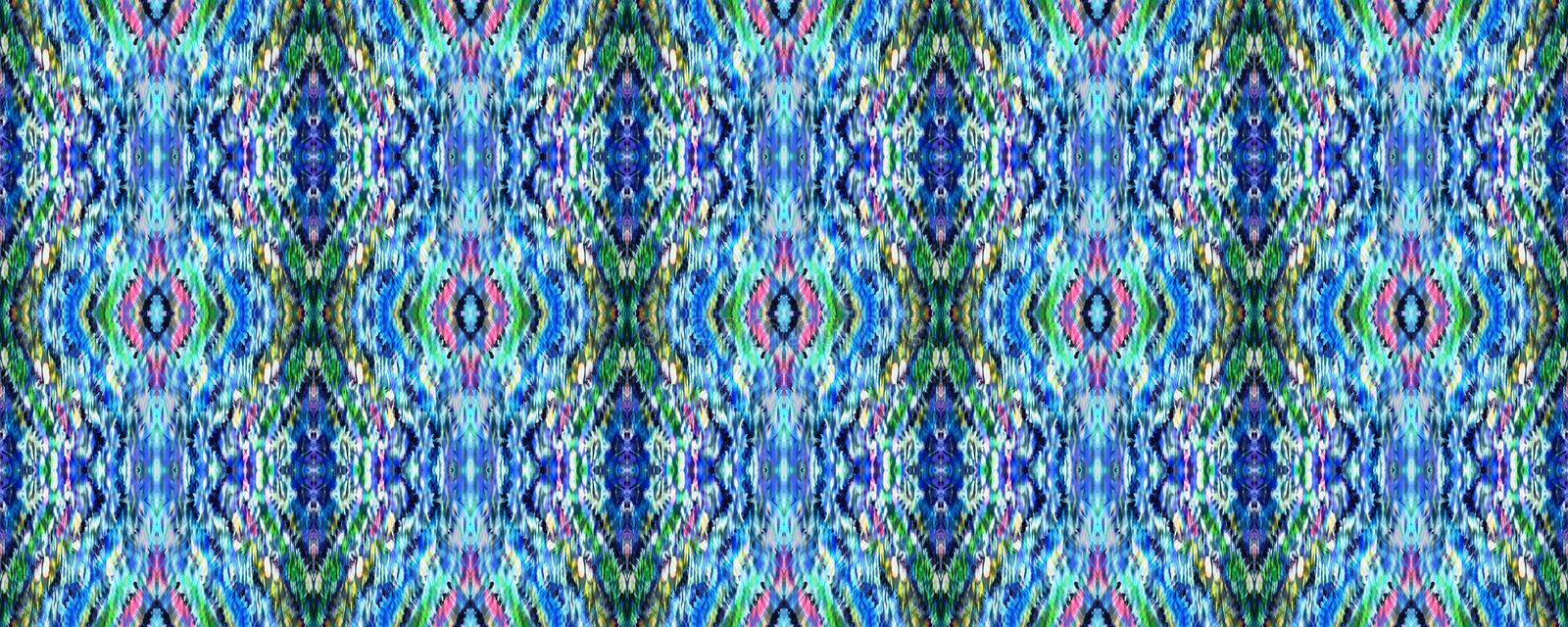 Tie Dye Seamless Pattern. royalty free stock images