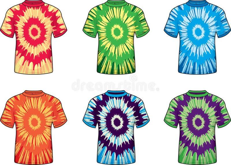 Tie Dye Shirts vector illustration