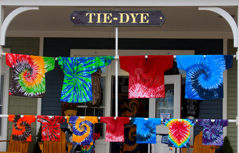 Tie-Dye Shirts royalty free stock photography