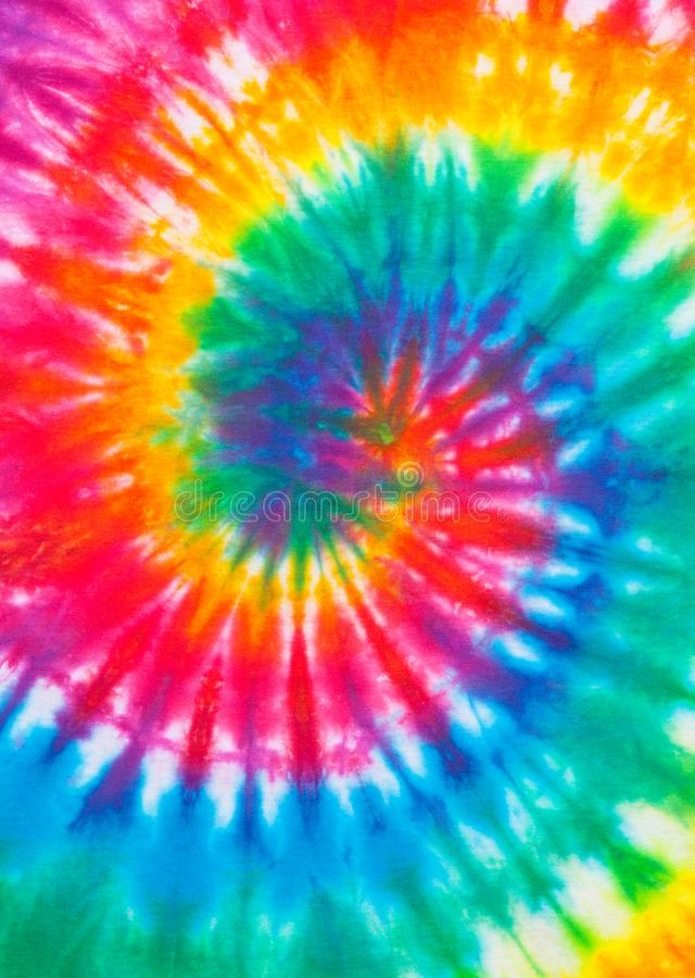 Tie Dye. Rainbow Spiral Pattern Close Up royalty free stock photography