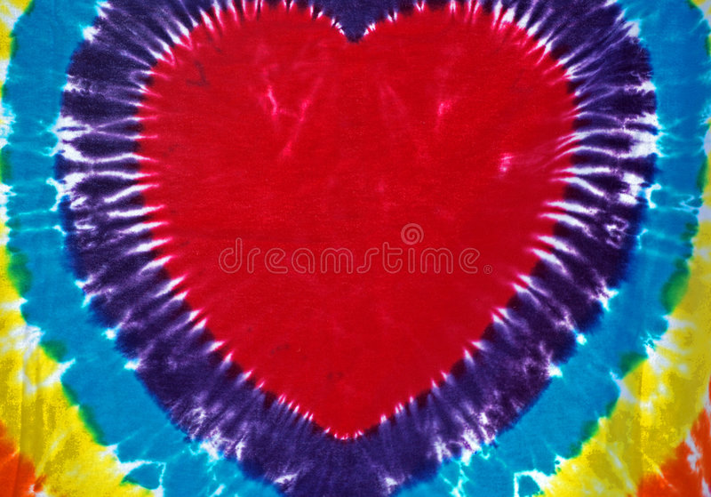 Download Tie Dyed Heart stock image. Image of pattern, style, love - 6543021