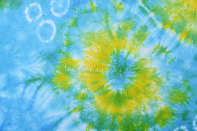 Tie dyed pattern on cotton fabric for background. royalty free stock image