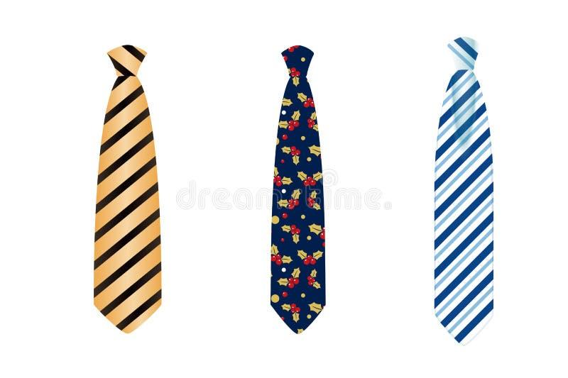 Tie flat icon style. Tie icon on white background. Design style royalty free stock photos