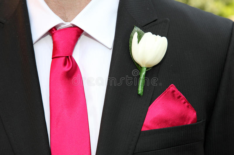 Tie and flower stock image