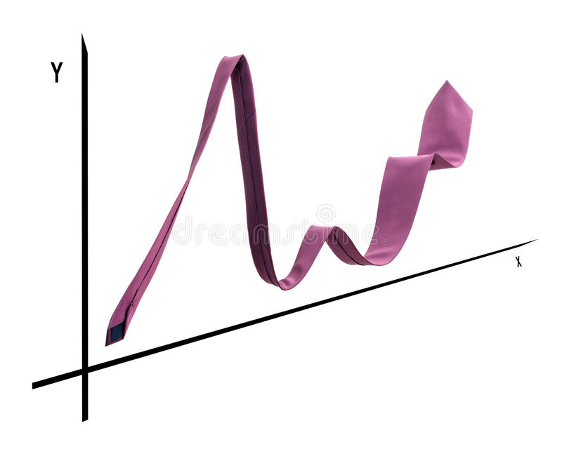 Tie graph royalty free stock image