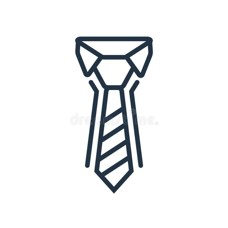 Tie icon vector isolated on white background, Tie sign stock illustration