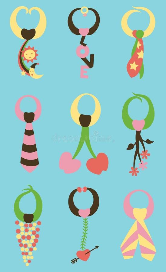Download Tie Me Down Pattern stock vector. Image of vintage, illustration - 22872673