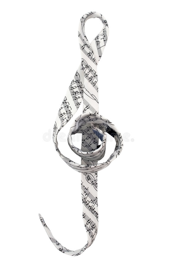 Download Tie With Musical Symbols And In Violin Clef Shape Stock Illustration - Image: 8967248
