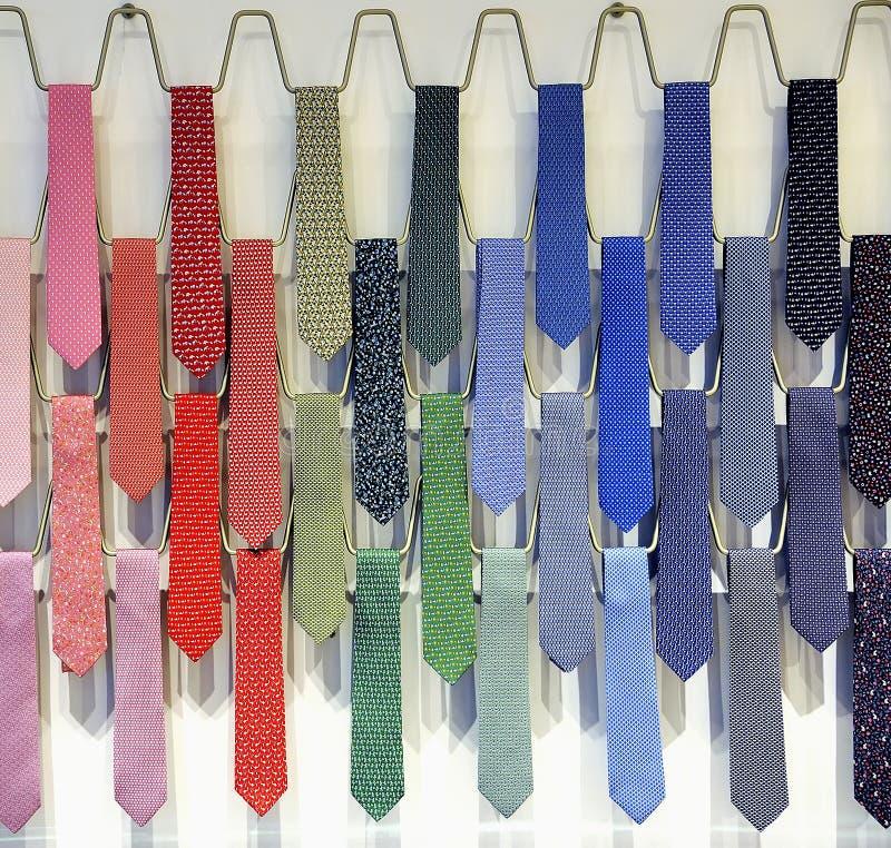 Tie rack stock photos