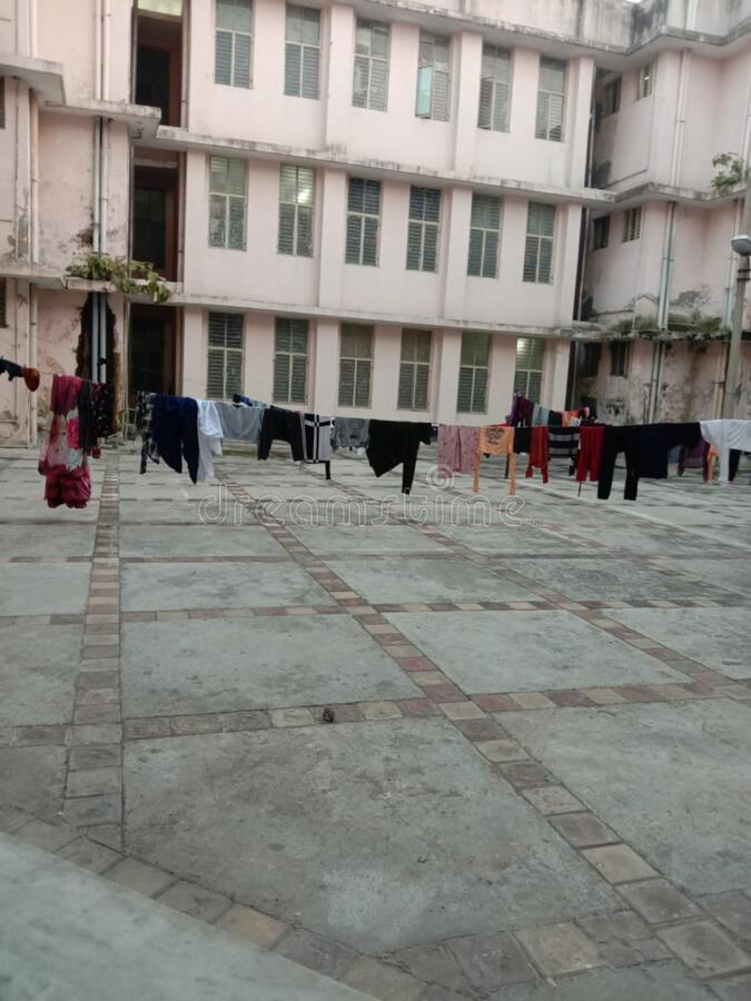 Tie A Rope Outside The Building And Dry The Clothes, This Picture Is From  Meerut Stock Image - Image of clothes, picture: 171120709